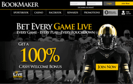 Bookmaker sportsbook screenshot